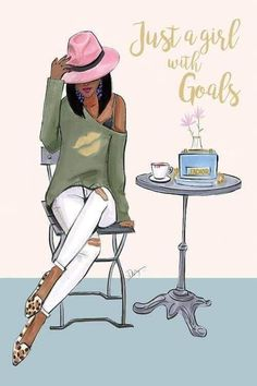 Just a girl with goals (Fashion Illustration Print Fashion Sketch prints Home Decor Wall Decor Fashionistas) is part of Just A Girl With Goals Fashion Illustration Print Fashion Etsy - Artwork copyright © 2018 Rongrong DeVoe