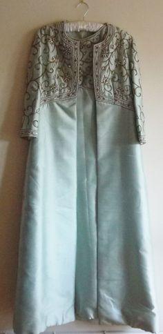 Vintage Bernetti 1960 s Silk Dress and Matching Coat
