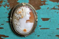 Filigree Cameo Brooch Pendant 14K White Gold – Yourgreatfinds