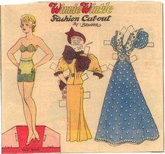 Winnie Winkle Yellow suit blue formal green undies
