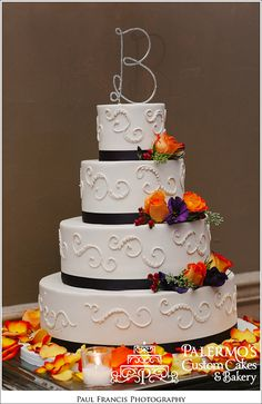 Custom Autumn Cake. Perfect cake for any fall party. Palermo's Bakery creates custom cakes, wedding cakes, birthday cakes, graduation cakes, cake pops, cupcakes, cookies, custom dessert tables and serves the New Jersey/New York Area