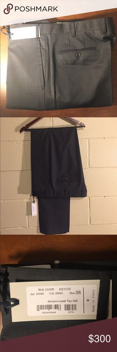 Zanella trousers Ordered these through work and asked for light grey. Ended up getting these (dark grey) and am unable to exchange them. Zanellas are very high quality trousers that will last a lifetime if taken care of Zanella Pants Dress