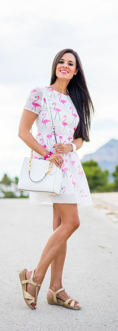 Flamingo Dress / Fashion By Style Lovely