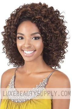 BeShe 2 Deep Lace Front Wig SHAG 14 ** Continue to the product at the image link. Curly Hair Care, Curly Hair Styles, Natural Hair Styles, Synthetic Lace Front Wigs, Synthetic Wigs, Afro Wigs, Queen Hair, Human Hair Lace Wigs, Remy Hair