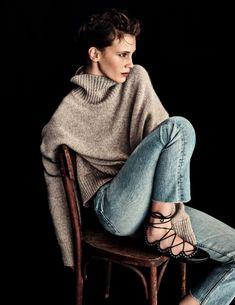 Supersize turtleneck sweaters