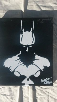 Batman 810 minimalist spray paint art on canvas made with hand cut stencils by - Batman Poster - Trending Batman Poster. - Batman 810 minimalist spray paint art on canvas made with hand cut stencils by WickedSprayArt on Etsy Spray Paint Artwork, Spray Paint Canvas, Spray Paint Stencils, Stencil Art, Batman Wall Art, Batman Painting, Batman Poster, Stencil Printing, Art Painting Gallery