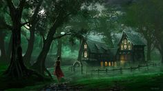 """Edli Akolli, """"The Inn"""".  Oh, so cool.  I want to go to that inn--and wear that cranberry-colored dress."""