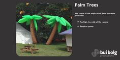 Inflatable Prop hire by Bui Bolg Inflatable Palm Tree, Prop Hire, Community Events, Palm Trees, Street Art, Tropical, Outdoor Decor, Palm Plants