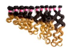 50g/pc Body Wave Ombre Malaysian Real Human Hair Wefts Pop Haar Extension Weave #WIGISS #bodywave