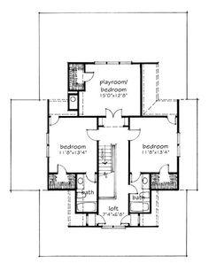 Four gables for the home pinterest farm house house for Four gables house plan with garage