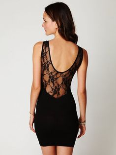 Sweetheart with Lace Slip free people dress.. LOVE the back!