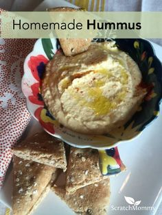 Homemade hummus is i