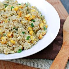 Quinoa with Roasted Corn and Scallions