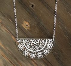 Abelina Lace Necklace by FoxAndClover on Etsy
