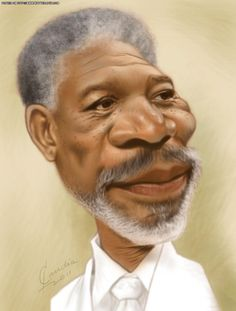Morgan Freeman (Caricature) http://dunway.us