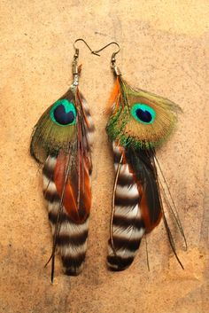 https://www.facebook.com/siamic.crafts featherearrings feathers tribal boho hippie