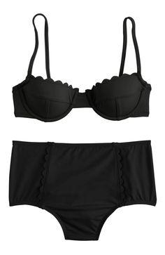 Scallop High-Waisted Bikini