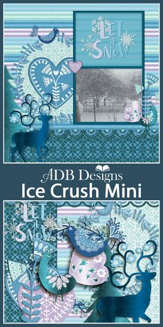 This Scandinavian inspired winter mini kit is just right for snowy, playful, winter photos.  #ADBDesigns #digitalscrapbooking #IceCrushMini #GoDigitalScrapbooking https://www.godigitalscrapbooking.com/shop/index.php?main_page=product_info&cPath=29_452&products_id=34475