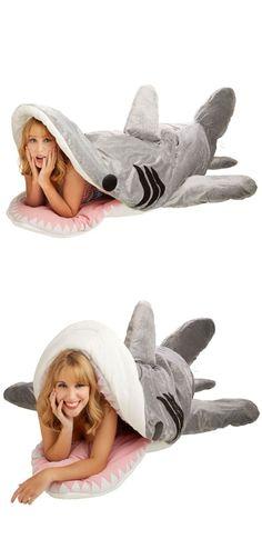 Shark sleeping bag! Hilarious! #product_design