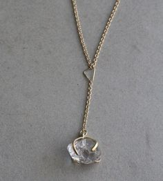 Asymmetrical Triangles & Herkimer Diamond Necklace