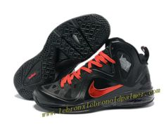 Nike LeBron 9 P.S. Elite Shoes Black Red