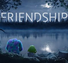 Mike and Sulley know what's important #Friendship #BFF