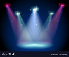 A stage with colorful spotlights Royalty Free Vector Image , Wedding Background Images, Desktop Background Pictures, Studio Background Images, Banner Background Images, Background Images For Editing, Green Background Video, Best Photo Background, Smoke Background, Download Wallpaper Hd