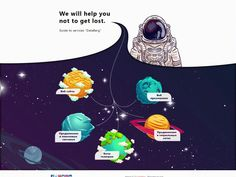 Space! Design Agency services page by Tema Tarasov