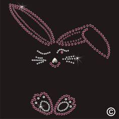 Hotfix Rhinestone Bunny Diamante Transfer Iron On Gem Crystal Motif Applique