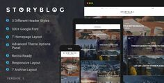 StoryBlog is a WordPress theme specially designed for story tellers.    Theme now supports multiple layout styles for single posts with left and right sidebar layout.   New Features  New header sty...