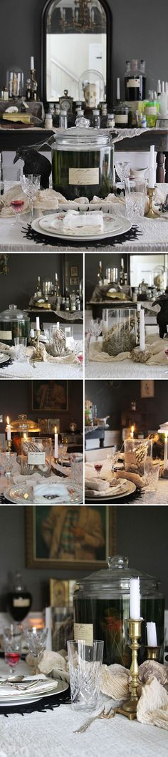 13 Spooky Halloween Table Settings