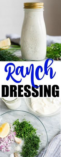 This is THE Homemade Ranch Dressing you've been waiting for your whole life. Thick, creamy, tangy, and full of fresh herbs! Store-bought? Never again.