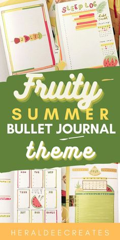 Be inspired by this easy fruity summer bullet journal theme! Choose from several spread ideas, cover page, weekly spreads, doodles, aesthetic pages, quotes, and more. Plus get inspirations from different layouts and designs. Perfect for bujo beginners and journal lovers! #weeklyspread #bulletjournal #summer