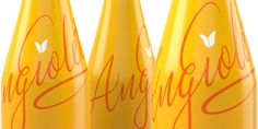 """""""National importing company, Wein-Bauer, Inc., engaged Kaleidoscope to develop a simple and elegant packaging design for Angioletta, a sweet, """"casual"""" white wine produced in Italy from a Spanish Moscato."""