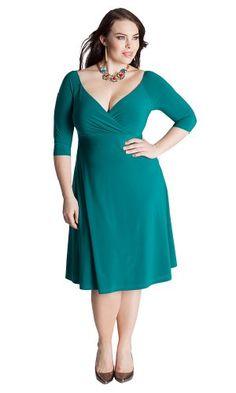5153b08a67e IGIGI Women s Plus Size Francesca Dress in Deep Emerald 12 at Amazon Women s  Clothing store