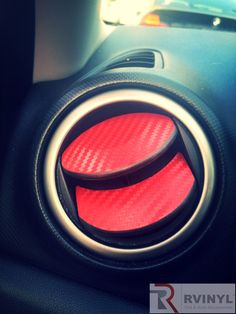 Red Carbon Fiber 2008 Mazda 3 Dash Wrap