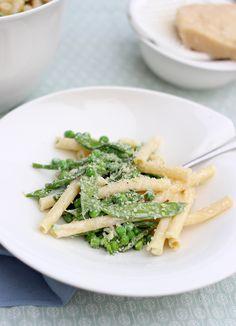 Pasta met peultjes, doperwten en groene asperges // Francesca Kookt