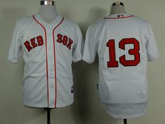 Men's Boston Red Sox #13 Hanley Ramirez MLB Jersey Home