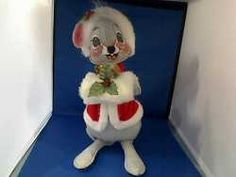 "Dolls Bears : Annalee Doll ""Christmas Mouse"" Girl.  $159.95 Brass Armadillo Antique Mall Denver"