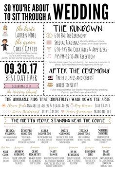 Funny Infographic Wedding Program / Games & Activities / Word Search / Custom / Mad Lib / Printable / / Popular / Funny Facts - ä_Boda_invitacion - Wedding Planning Tips, Wedding Tips, Event Planning, Destination Wedding, Wedding Party List, Wedding Registry Ideas, Wedding To Do List, Wedding Hacks, Wedding Guest List