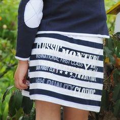 Pom Pom Jitske Nautical Skirt
