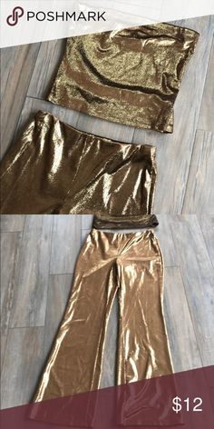 3e8450818 Forever 21 Two piece outfit tub top with pant. Coppery gold color never  worn without