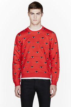 KENZO Red Eye print sweatshirt