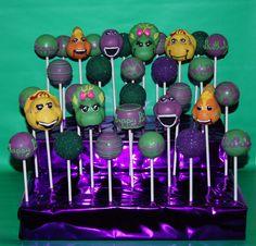 Barney and friends cake pops #barneycakepops #babybopcakepops  #cake #cakepops #cakestagram #cakepop #cakepopstagram #chocolate #birthdaycake #birthday #dessert #desserts #candytable #delicious #northernva #dmv #virginia #foodporn #food #foodie #foodgasm #yummy #tasty #sweet #foodstagram #yum #treat #iloveyou #barney #barneycake #babybop #barneyandfriends #barneyandfriendscakepops Barney Birthday Party, Barney Party, Birthday Party Tables, Birthday Desserts, Boy Birthday Parties, 2nd Birthday, Birthday Ideas, Happy Birthday, Barney Cake