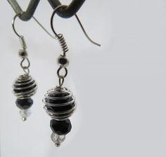 Spiral Wrapped Swarovski Earrings