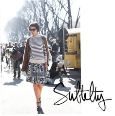 Photo by Garance Dore.  Love this style and mix of prints.