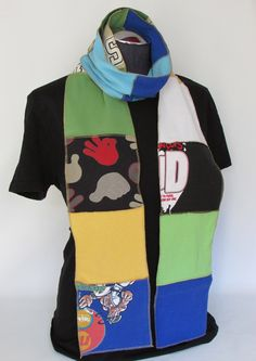 Scarf recycled T Shirts