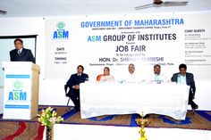 Chief Guests at Job Fair organized by ASM Group of Institutes.