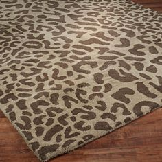 Hand Tufted Modern Leopard Print Rug for living room