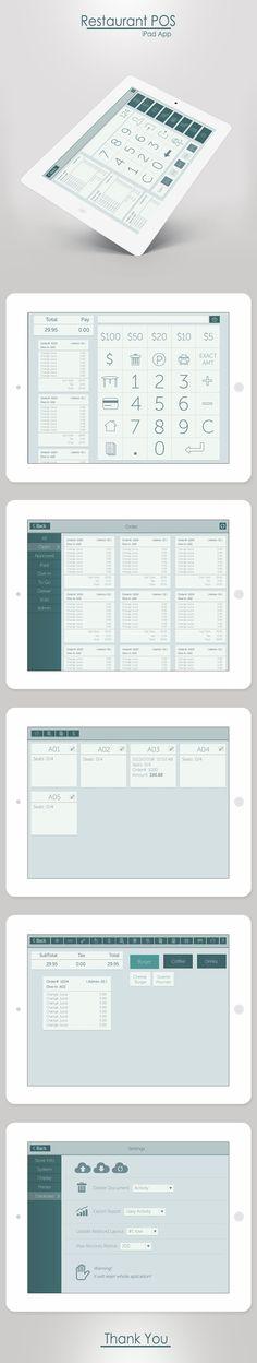 Restaurant POS - iPad App on Behance